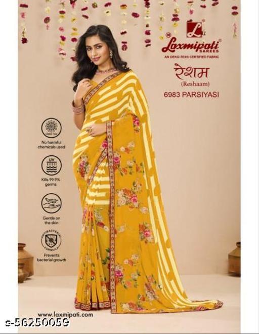TARAHOOD Laxmipati Reshaam 6983 Gold Georgette Saree
