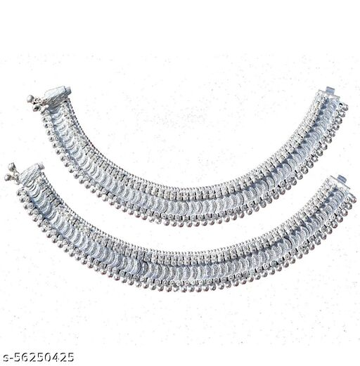 Women fashion alloy silver plated broad Anklet