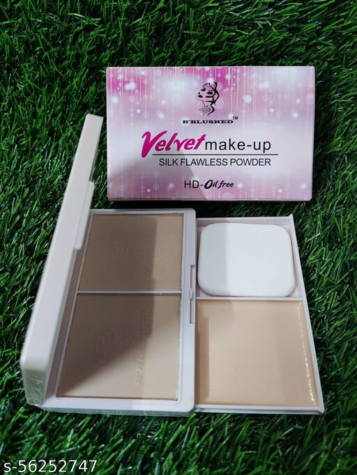 VELVET MAKE UP 3 IN 1  SILK FLAELEES POWDER HD OIL FREE COMPACT B BLUSHED.
