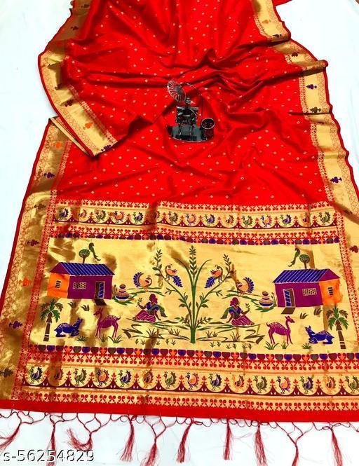Pure Soft Banarasi Paithani Silk Saree with Heavy and Rich Pallu.