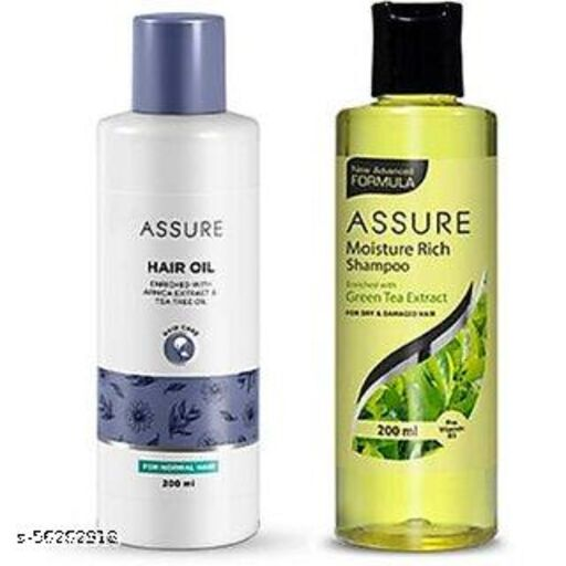 New Assure Hair Oil Enriched With Arnica Hair Oil With Moisture Rich Shampoo (2 Items In The Set)