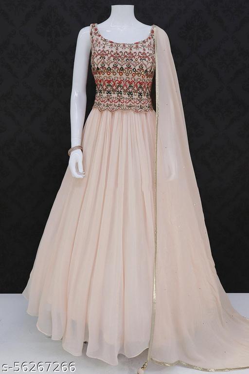 JAYSHREE ENTERPRISE DESIGNER LIGHT PEACH OUTFIT Gowns