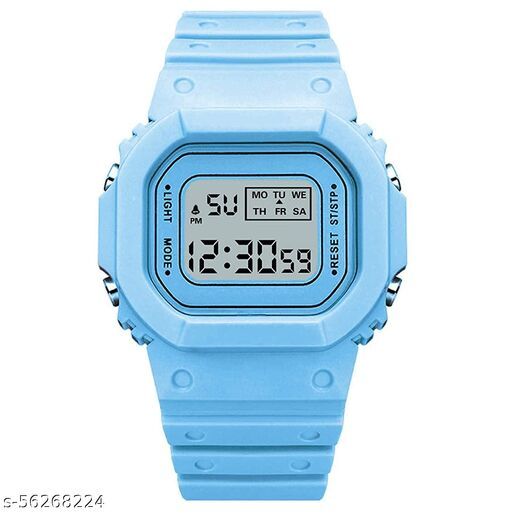 Chiefmount Digital Multi Color Back 7 Light Day/Date Watch for Boys & Girls