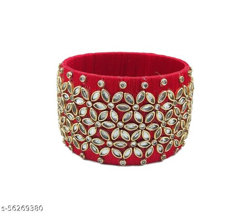 Kundan Worked silk thread bangles for women's and girls