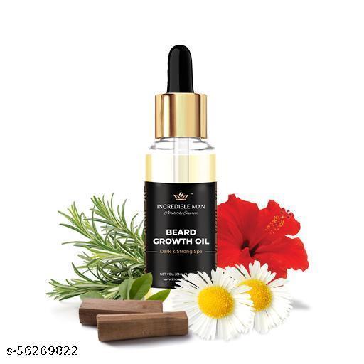 Incredible Man Natural Beard Growth Oil for Men 28ml - Suitable for Patchy Beard   Dark & Strong Spa   Dense Beard