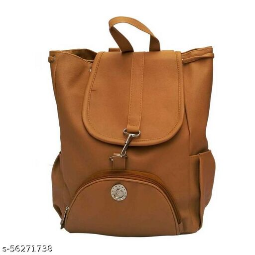 Brown color Trendy and Stylish backpack for Girls for Teachers / College / Fund / Study / Office use