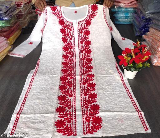 Lucknowi chikankari Cotton Kurti
