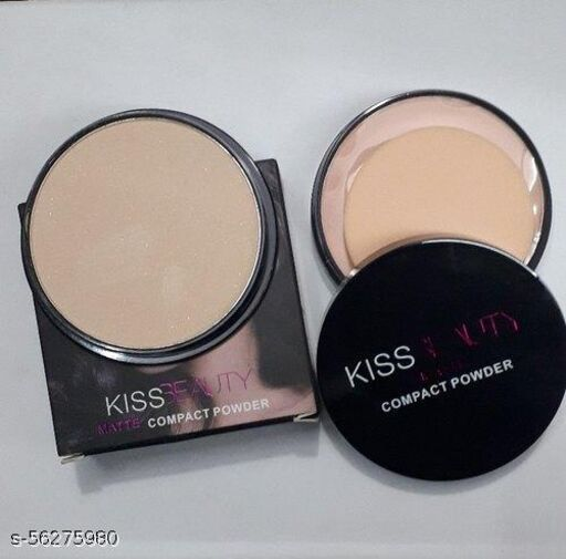Kiss Beauty Powder Cake Matte 2 In 1 Compact Powder Compact  (Beige, 20 g)