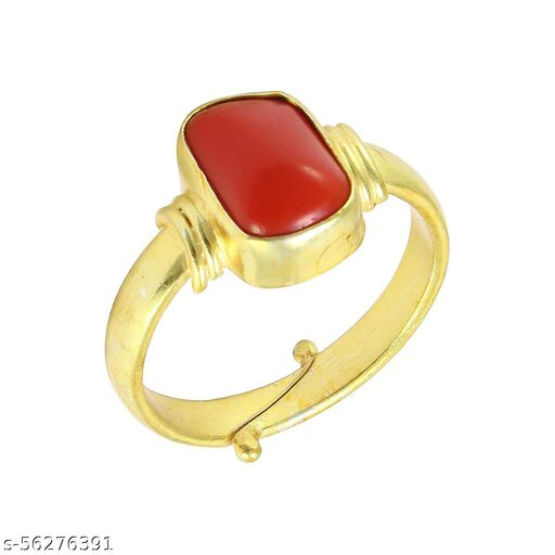 Natural Moonga (Coral) Ring 7.25 Carat For Women With Lab Certified