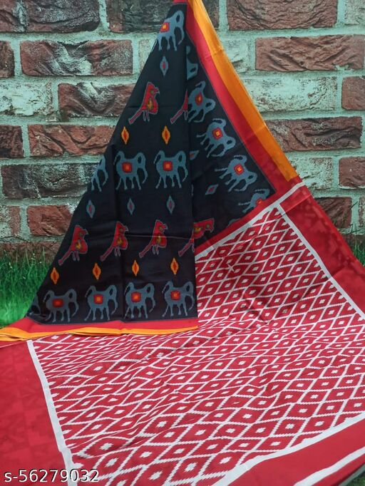 NEW SUMMER HAND BLOCK PRINTED COTTON MULMUL SAREE WITH UNSTITCHED BLOUSE