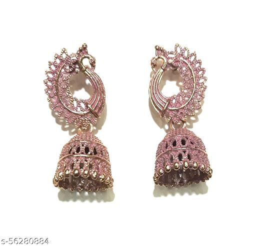 Gaurav Boutique Traditional Earrings For Women And Girls (Pink - ST193)