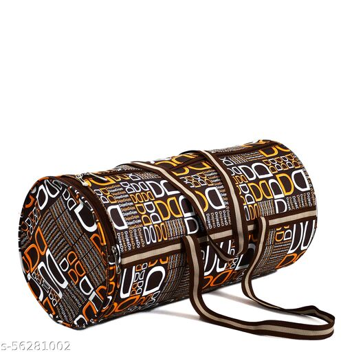 CS Collection Gym Bag Duffel Bag with Shoulder Strap for Women with Wrist Support Band (Brown)