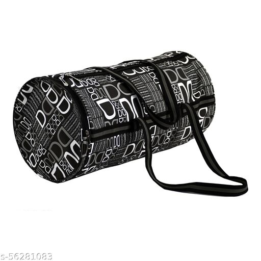 CS Collection Gym Bag Duffel Bag with Shoulder Strap for Women with Wrist Support Band (Black)