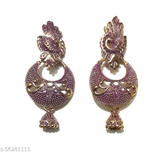 Gaurav Boutique Traditional Earrings For Women And Girls (Pink - ST194)