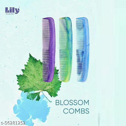 LILY Women's Fine & Coarse Teeth Dressing Combs (Pack of 2) (8 INCHES))