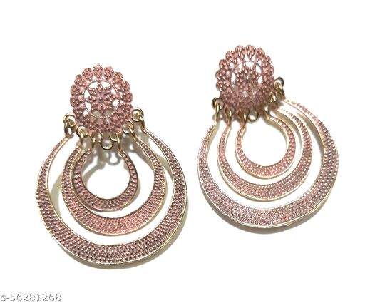Gaurav Boutique Traditional Earrings For Women And Girls (Pink - ST195)