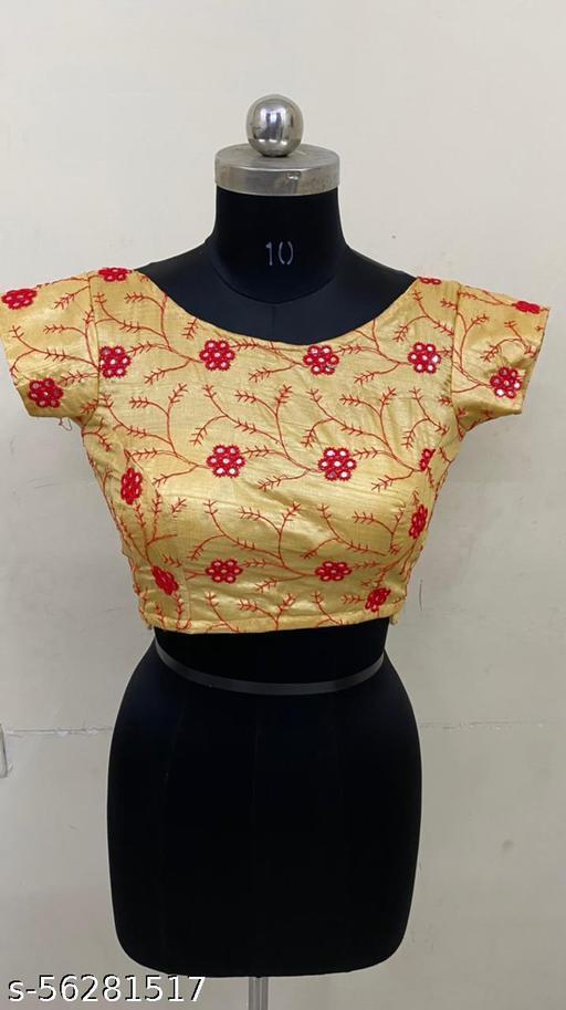 Art silk fancy work desigener stitch blouse