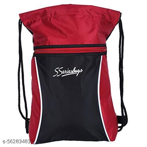 Trendway Stylish New Designing Pattern 11 LTR Cylindrical Shape Multipurpose Dori Bag (Black Color)