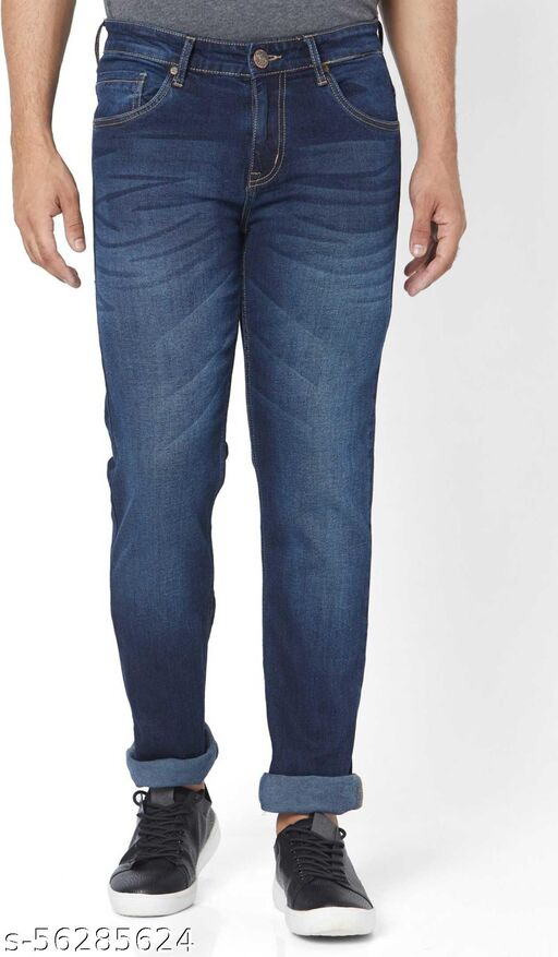 URIM Tapered Fit Men Blue Jeans In Denim Fabric