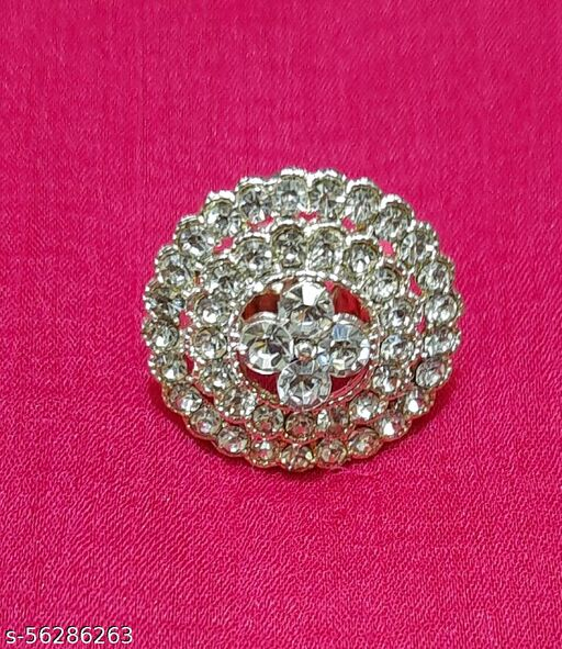 Gaurav Boutique Oversized Ring For Women And Girls (Silver - ST205)