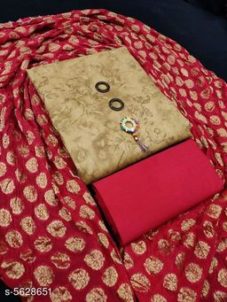 Trendy Attractive Soft Cotton Suits And Dress Material
