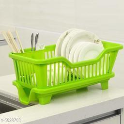 3 IN 1 Large Plastic Dish Rack