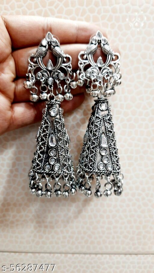 Lite weight long jhumka earrings