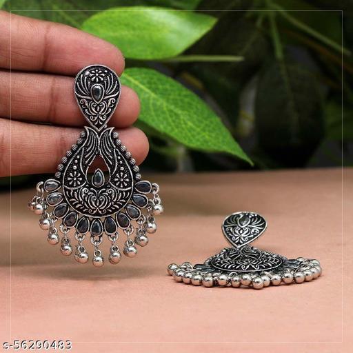 Araa collections meenakari green earrings