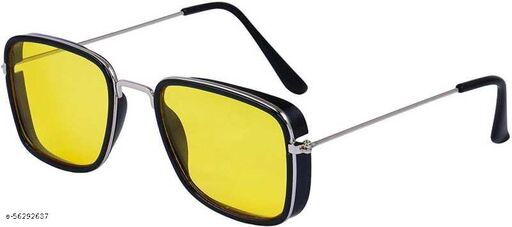 NIGHT DRIVING GOGGLES 100% UV PROTECTIVE LENS LIGHTWEIGHT FRAME AND YELLOW TINT LENS UNISEX SUNGLASSES