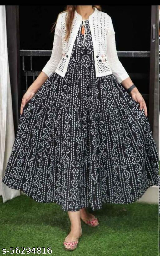printted kurti with jeckeet