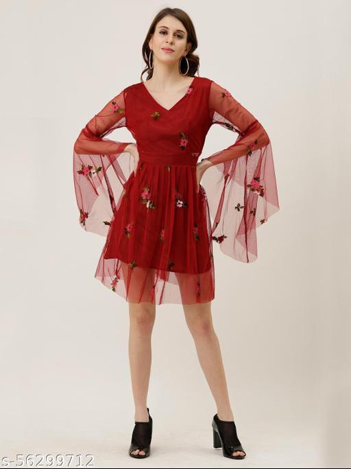 JAZMIN TRENDY MODERN A LINE DRESS FOR YOUNG GIRLS & WOMEN