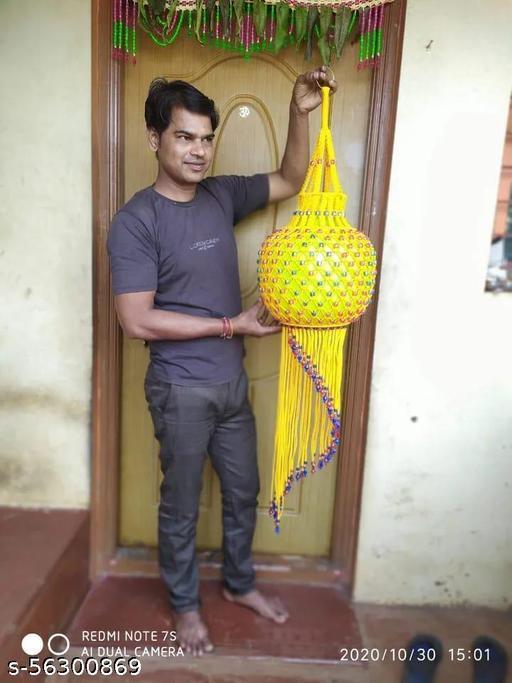Big Size Handmade Macrame Akash Kandil