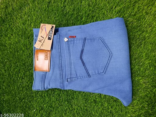 Kcoy Men's Light Blue Jeans