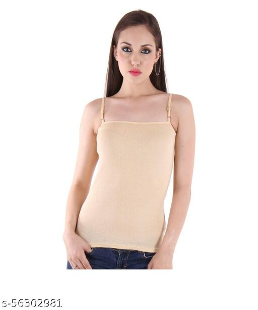 Womens Navy Blue Branded Cotton Camisole