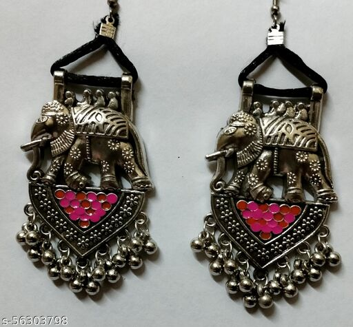 HANDCRAFTED ANTIQUE ELEPHANT EARRINGS