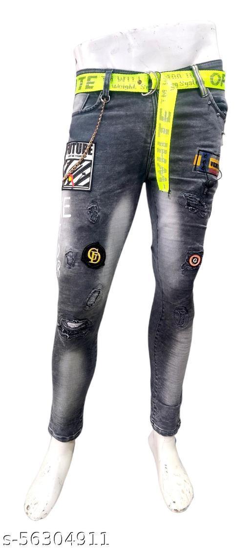 Fathionable unique men jeans