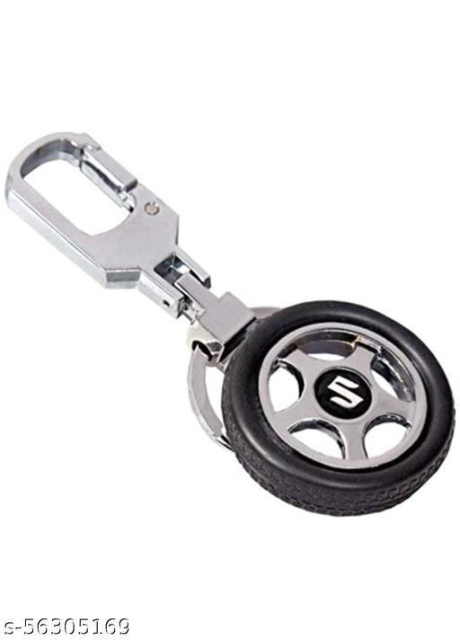 Aadhya Spinning Tyre Rotary Wheel Locking Metal Keychain/Keyring/Key Ring/Key Chain for Suzuki Car & Bike