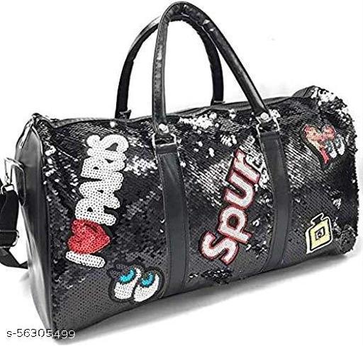 Polyester Glitter Women Sequin Gym Bag Travel Duffle Bag Workout Weekender Bags Sports Duffel Bag Lady Luggage Bag for Women Suitcase Organizer Gear Handbag