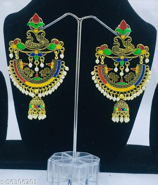 Latest Peacock  multicolor Jaipur  jhumka with  attractive design