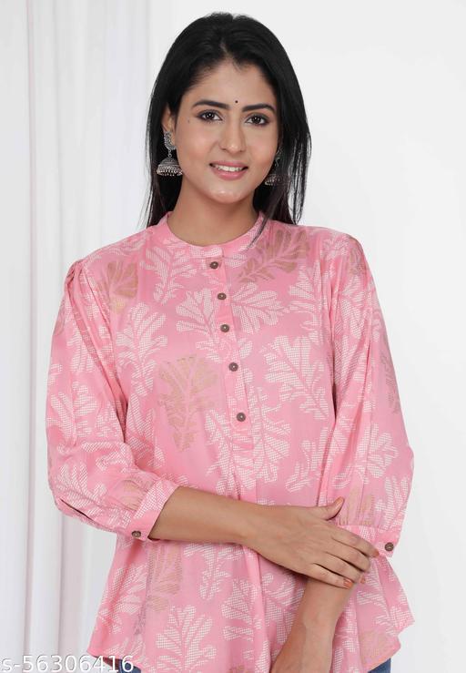 Shritikas Girls Cotton Top | Formal Wear Top | Pink Colour Top | Party Wear top
