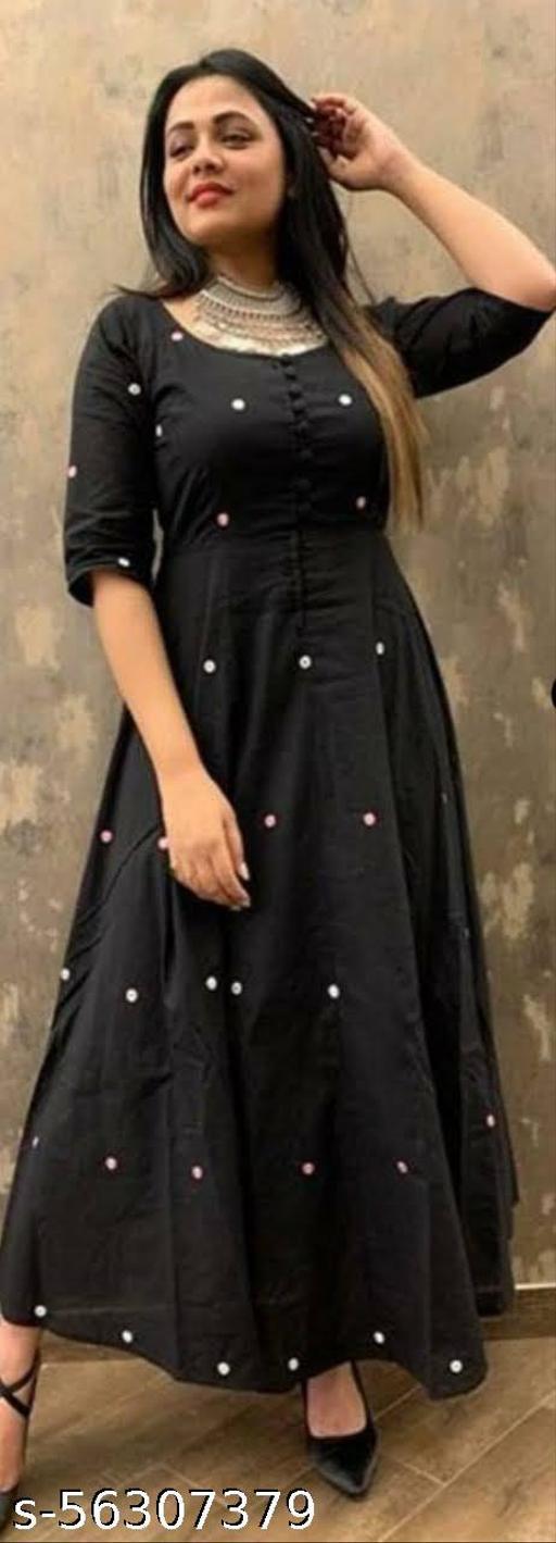 Trendy wome Black Long Kurti
