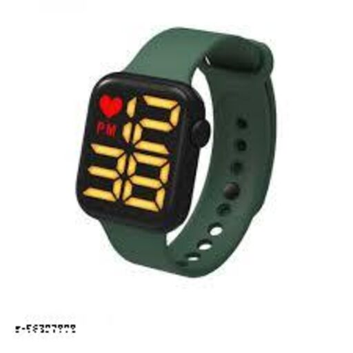 Waterproof LED Digital Movement Watch with Band, Date & Time and Year Function LED Display Watch for Boys and Girls