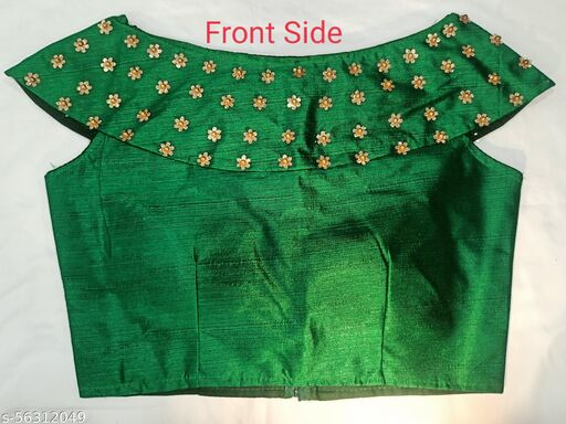 Ready made Blouse off shoulder pattern fully stitched fabric Phantom