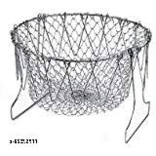 LSA collection chef basket solid steel 12in 1 chef cooking net basket for deep  fry boilling
