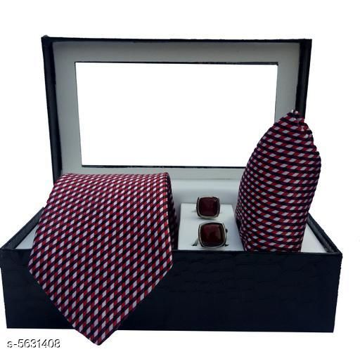Microfiber Tie With Pocket Square And Cuffling