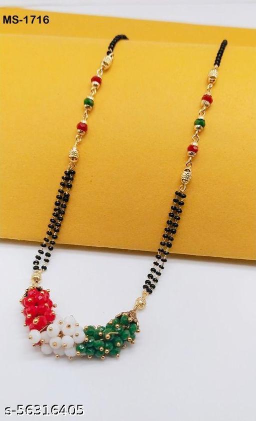 new stylish  multicolor moti mangalsutra