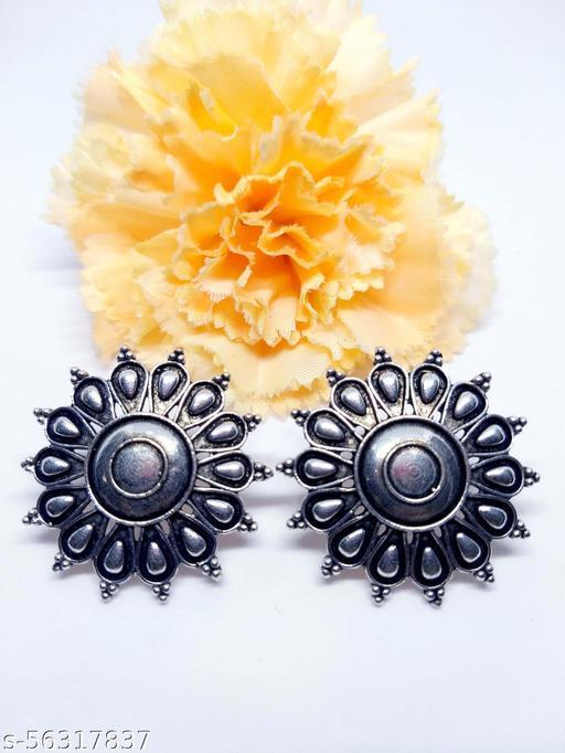 "REAL ART JEWELRY ""Silver Oxidized Fashion Earrings"""