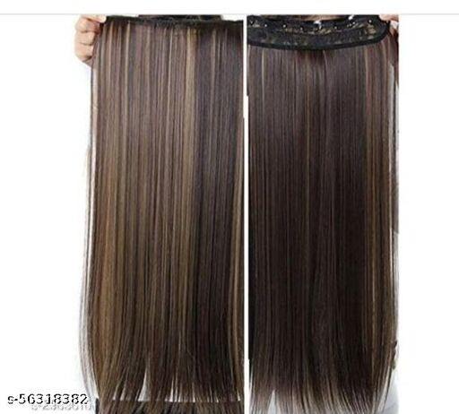 highlighted straight hair extension