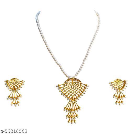 SARITA JEWELLERS Aarzo Pearls Pendant Jewellery Set