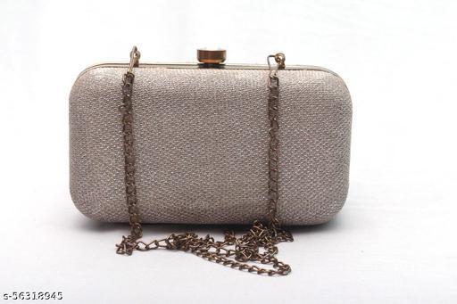 TORVI Women Box Clutches (Gold)